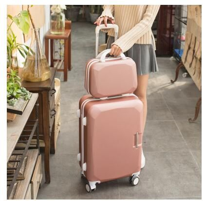 ABS+ PC  Women 202426 Inch Travel Luggage Trolley suitcase Cosmetic Suitcase Rolling Case On Wheels  Women Rolling Luggage