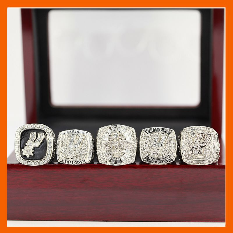 1999 2003 2005 2007 2014 SPURS SAN ANTONIO WORLD BASKETBALL CHAMPIONSHIP RING, 5 PCS RING SET COLLECTION US SIZE 11
