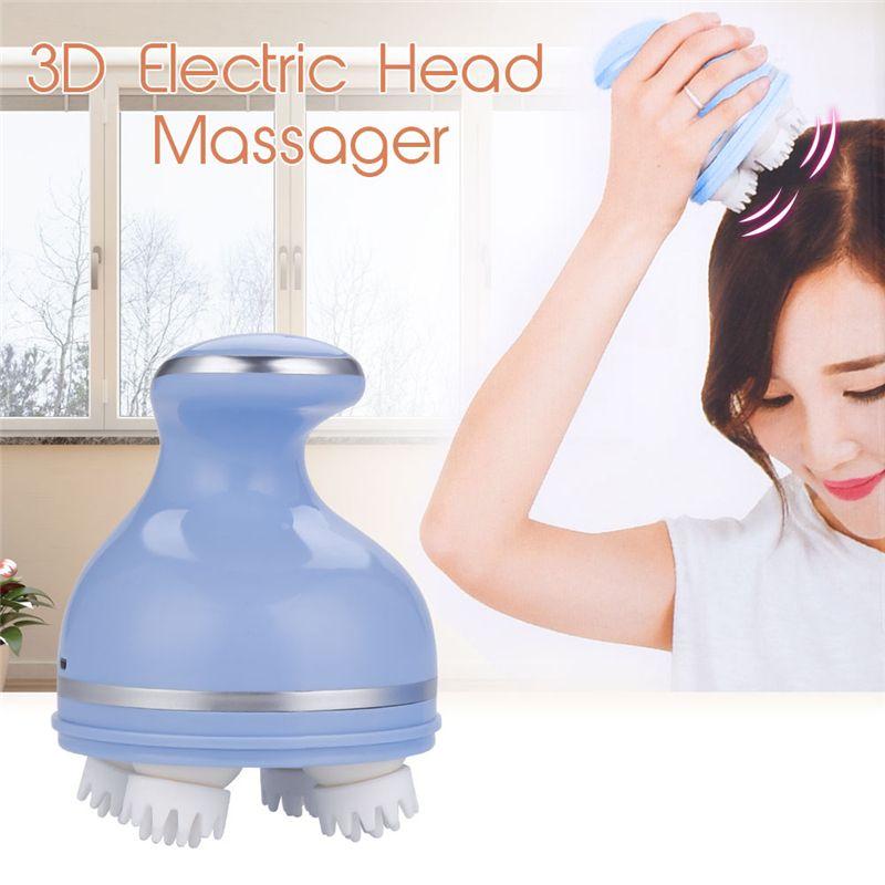3D Elektrische Kopf Massage Ganze Körper Massage Roller Wiederaufladbare Cordless Kopfhaut Massager Entlasten Kopfschmerzen Leichtigkeit Kopf Müdigkeit 35