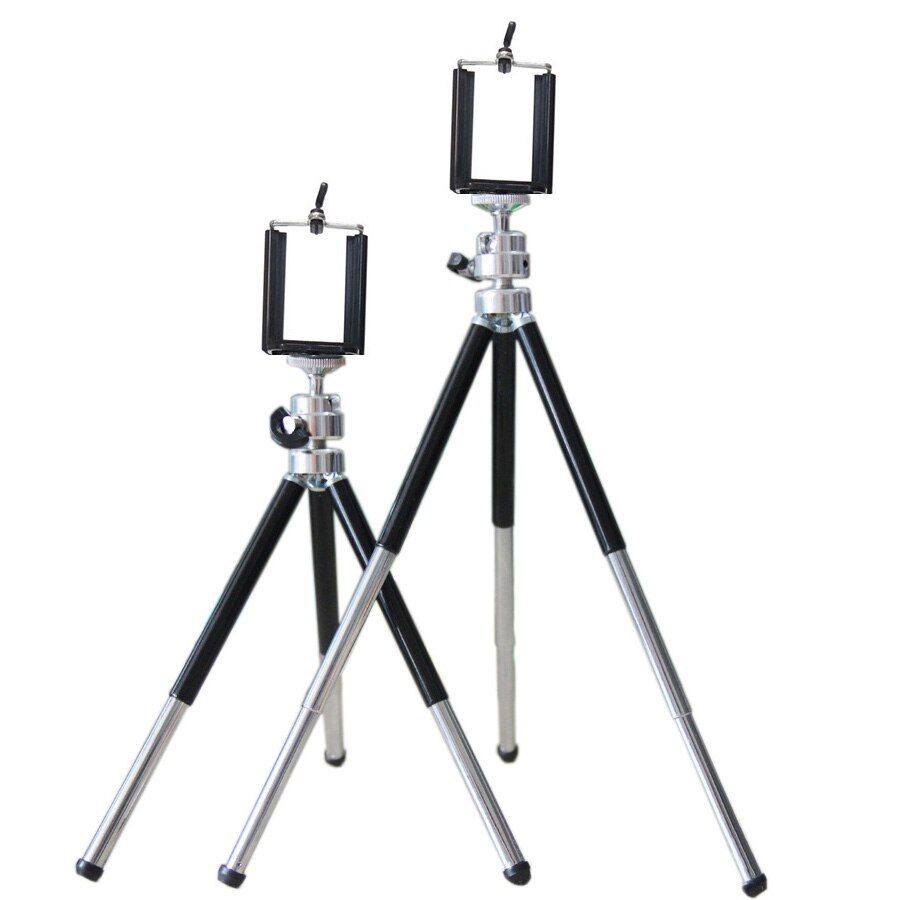 Hot selling Mini Tripod With Phone Holder For 3.5-6inch Huawei Samsung Iphone Portable Tripod For Gopro hero 3/4/5 SJcam DV