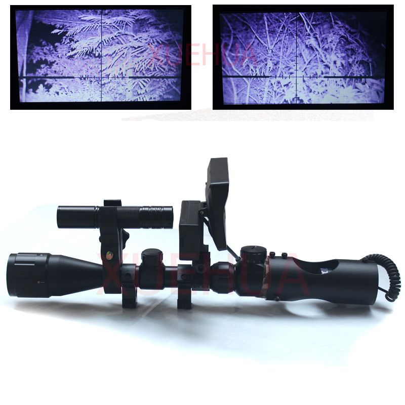 Hot New Telescope night vision <font><b>Outdoor</b></font> Hunting Optics Sight Binoculars with LCD and IR Flashlight not include Rifle scope