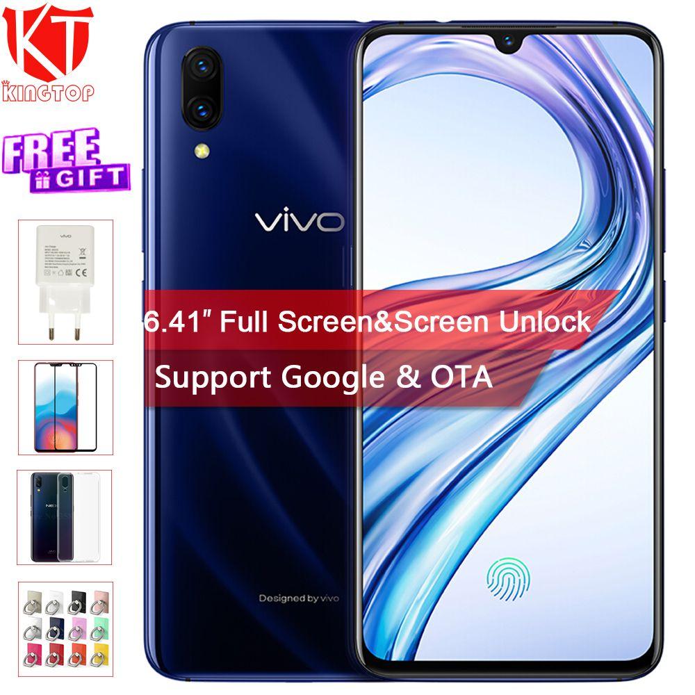 Original VIVO X23 Handy 6,41 8g RAM 128g ROM Snapdragon Octa core waterdrop display Dual Kamera bildschirm Entsperren handy