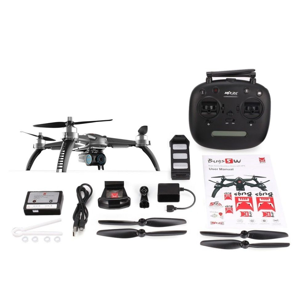 MJX Bugs 5W 5 W Drone with 1080P camera Brushless Motor Quadcopter GPS FPV drone 5G WIFI 1080P Camera Auto Return RC Helicopter