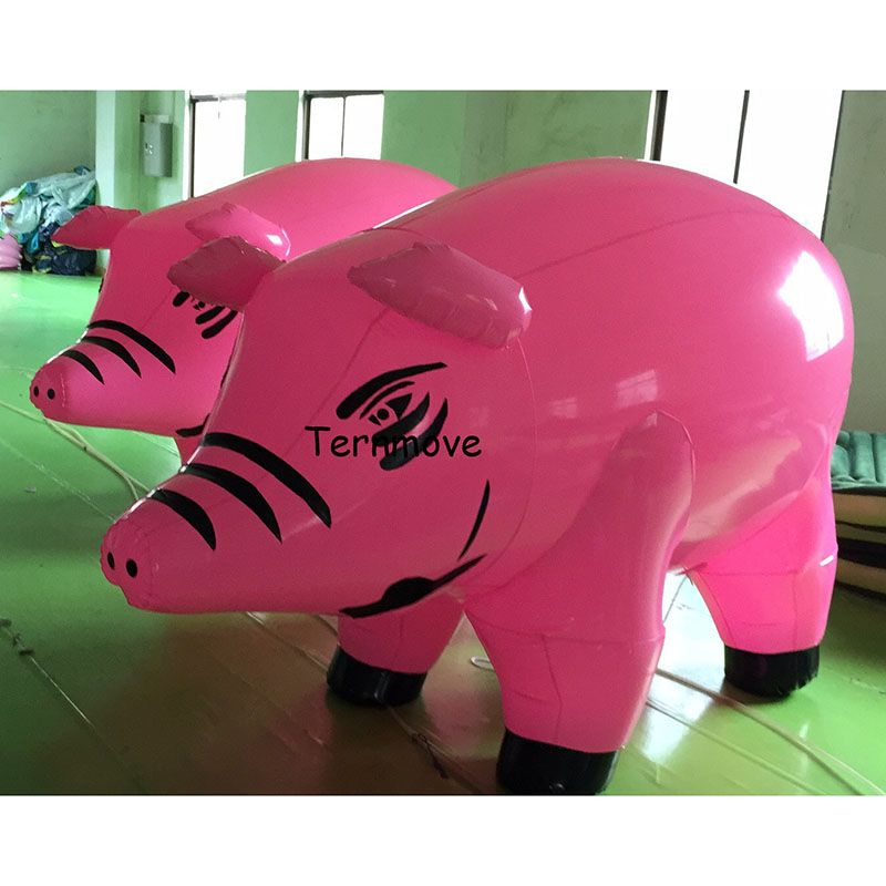 inflatable pig shape model PVC advertising Promotion Helium Balloone inflatable pig cartoon character for decoration