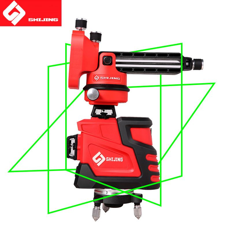 Laser Level 12 lines 3D Self-Leveling 360 Horizontal And Vertical Super Powerful Laser level green Beam SHIJING laser lever