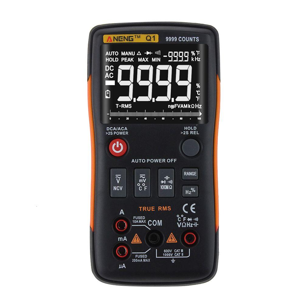 ANENG Q1 Trms Multimètre Numérique Bouton 9999 rm409b testeurs automobile électrique comprobador dmm transistor testeur