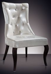 European and American style comfortable white upholstered hotel lobby chair LQ-L8001