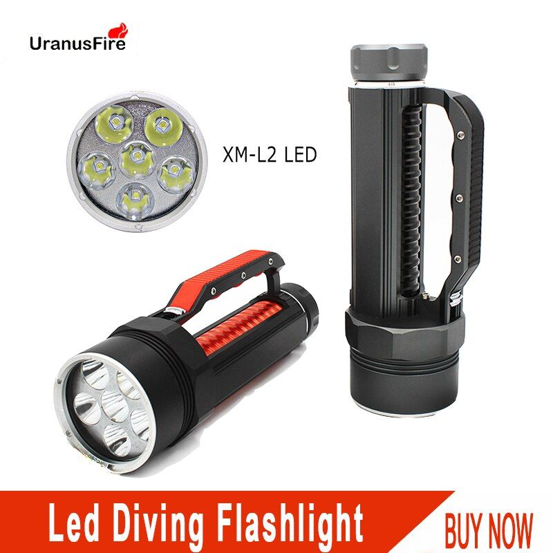 Diving Light 6 CREE L2 7200LM led Diving Flashlight Waterproof Lamp Scuba Submersible Underwater 100M Work Torch 32650 Batteries