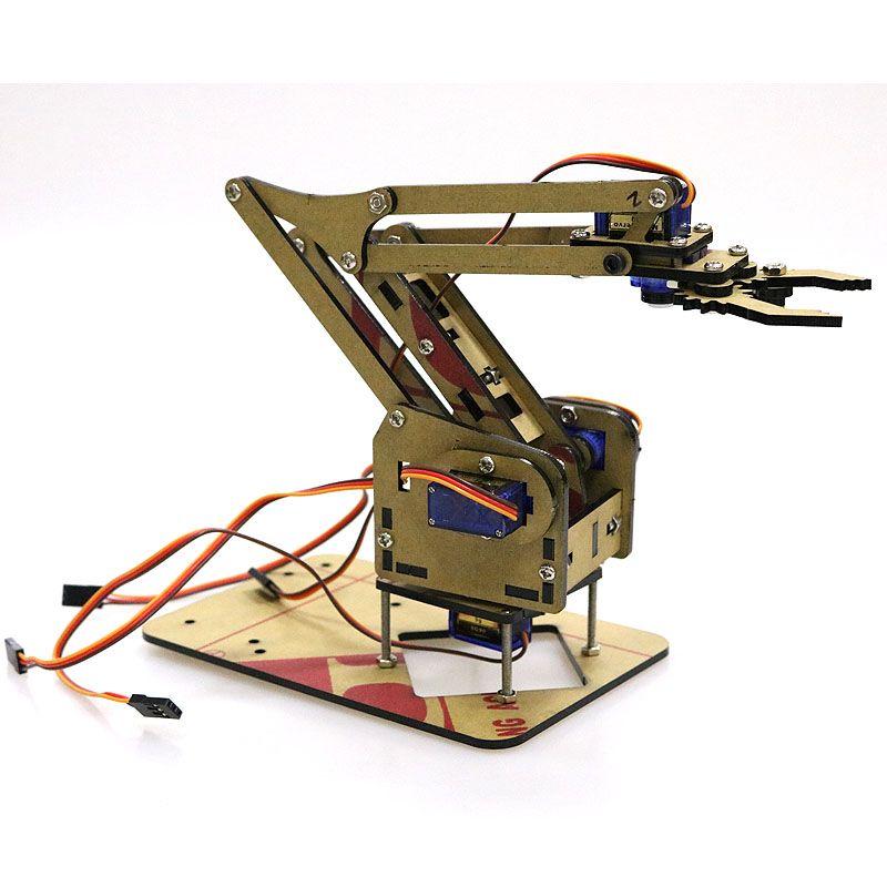 4 DOF démontage acrylique bras mécanique Robot manipulateur griffe pour Arduino fabricant apprentissage kit de bricolage Robot