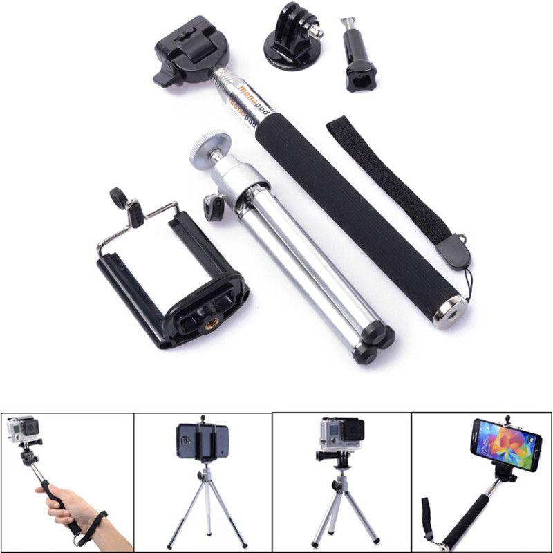 Trépied Stand Pour Xiaomi Yi 4 K Go Pro Téléphone Portable Titulaire Tripes Monopode pour Gopro Hero 6 5 4 Sjcam Eken h9 D'action Caméra Accessoires