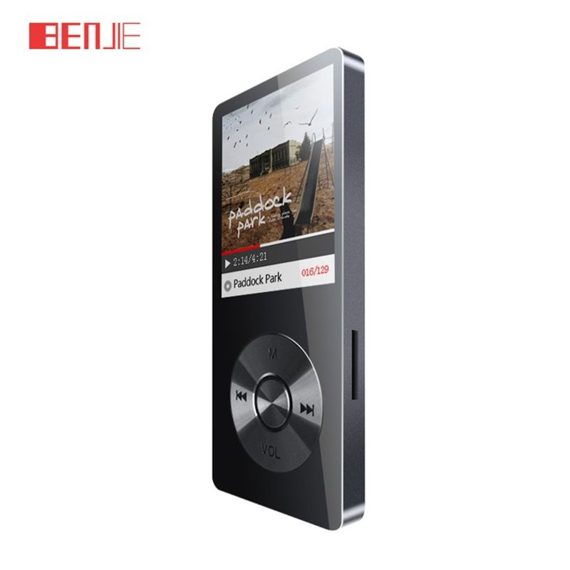BENJIE k9 8GB lossless HiFi stainless steel MP3 Music player Portable MP3 Audio play E-book FM radio <font><b>voice</b></font> recorder with headset
