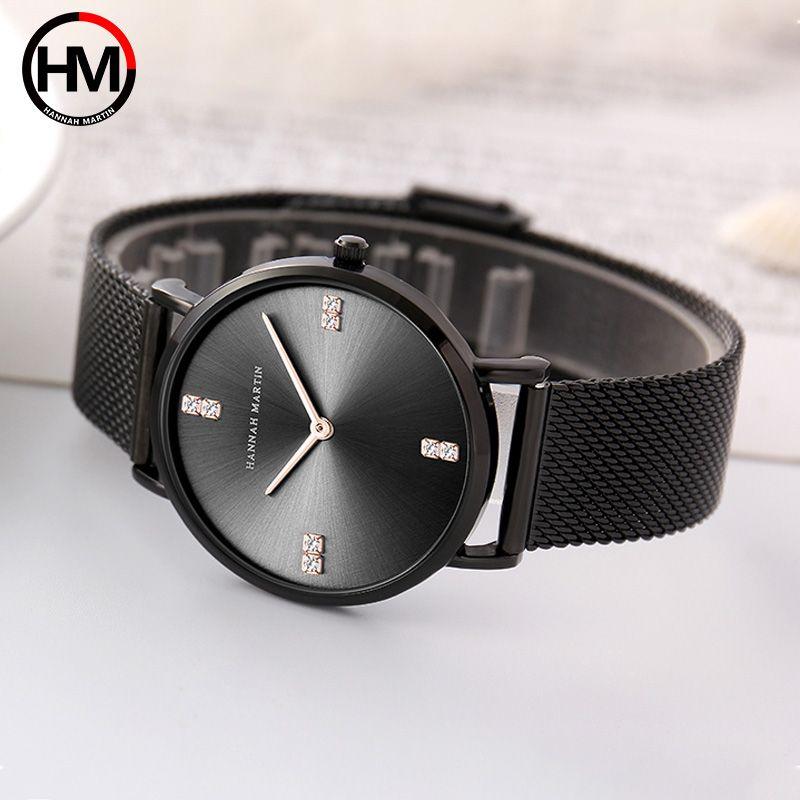 Frauen Armband Uhr Luxus Marke Frauen Kleid Uhr Rose Gold Stahl Mesh Weiblichen Uhr Strass Diamant Schwarz Uhr Relojs Xfcs