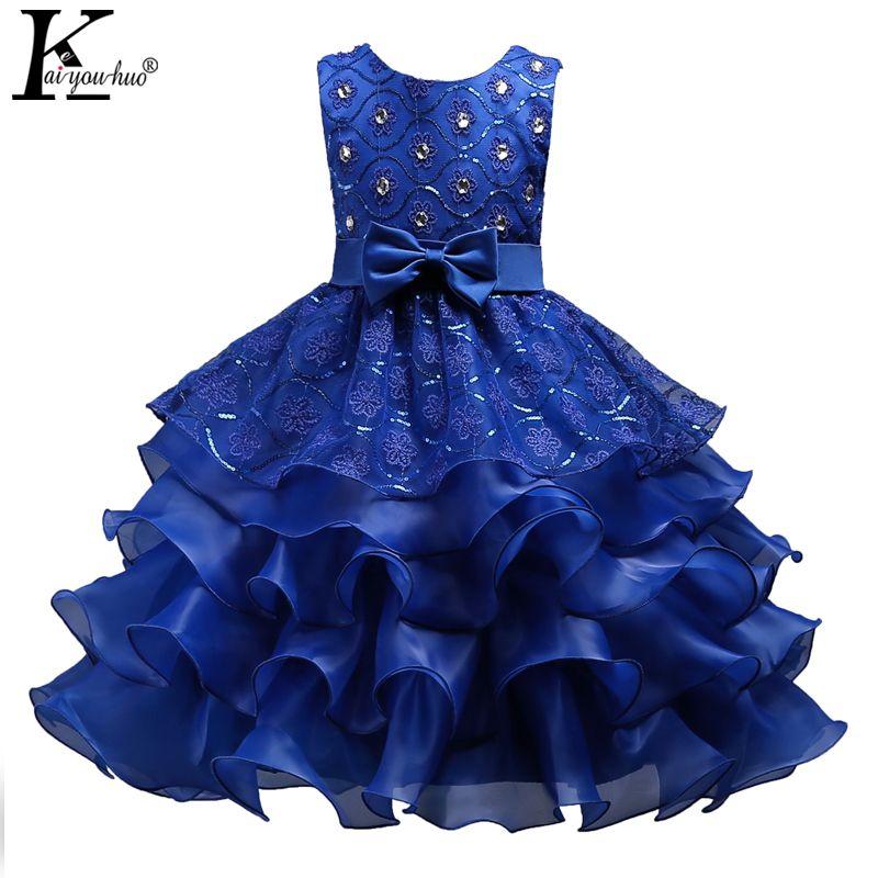 Nuevo Vestido de las muchachas Niños Vestidos Para Niñas Ropa de Fiesta de Pascua Princesa Boda vestido de Los Niños Vestidos 3 5 6 7 8 9 10 11 12 años