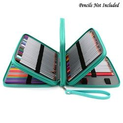 160 Leather Holder Portable School Colored Pencil Case Large Capacity Pen Pencil Bag For Student Art Supplies