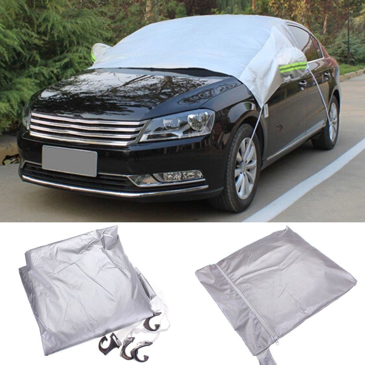 238x169cm Car Windscreen Cover Heat Sun Shade Anti Snow Frost Ice Shield Dust Protector Universal