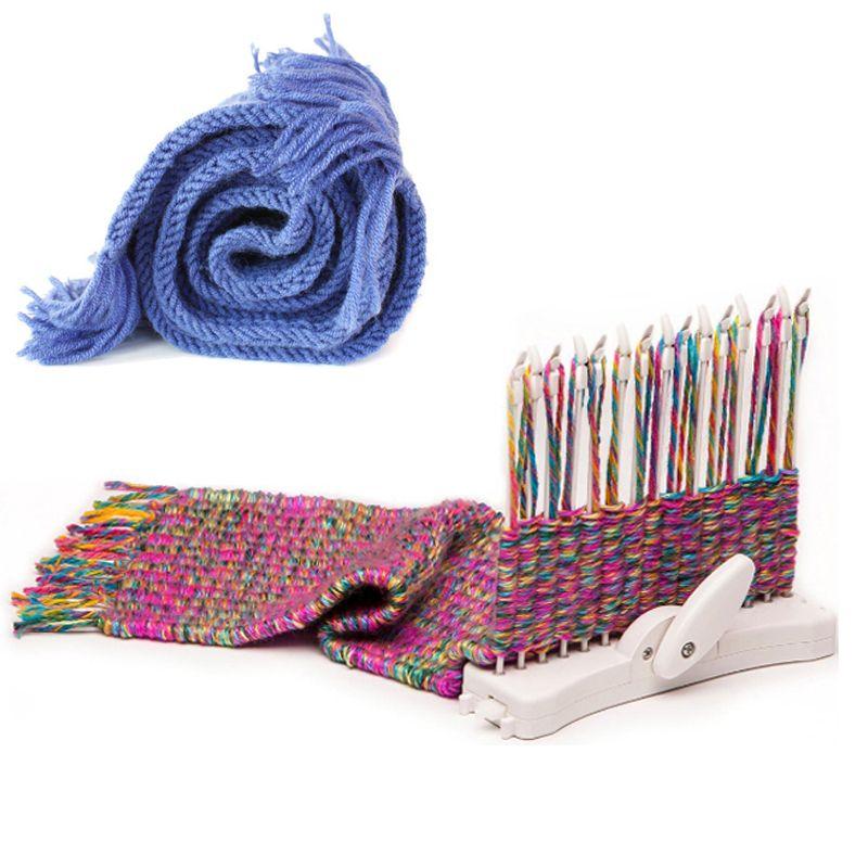 Écharpe À Tricoter Machine Métier À Tricoter Knit Hobby Outil Kits avec À Tricoter Fil De Laine Enfant Des Jouets Éducatifs Artisanat Couture