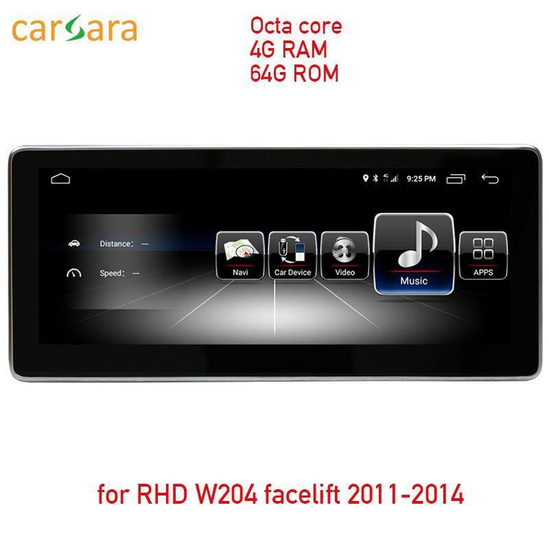 4G RAM 64G ROM Android touchscreen für rechtslenker W204 2011-2014 10,25