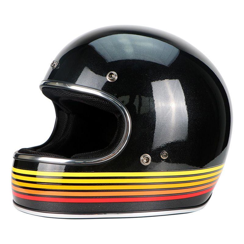 VECCHIO Vollgesichts VINTAGE racing motorrad Jet helm Motocross motorrad Casco Capacete Jet Retro harley GLASFASER helm