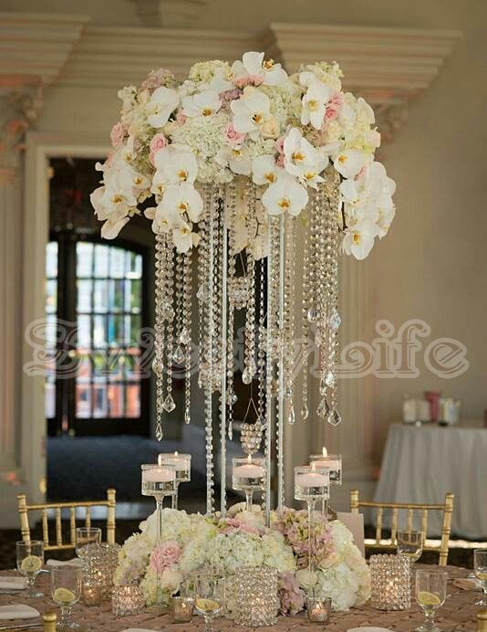10PCS/lot acrylic crystal wedding centerpiece 60cm Tall Flower Stand