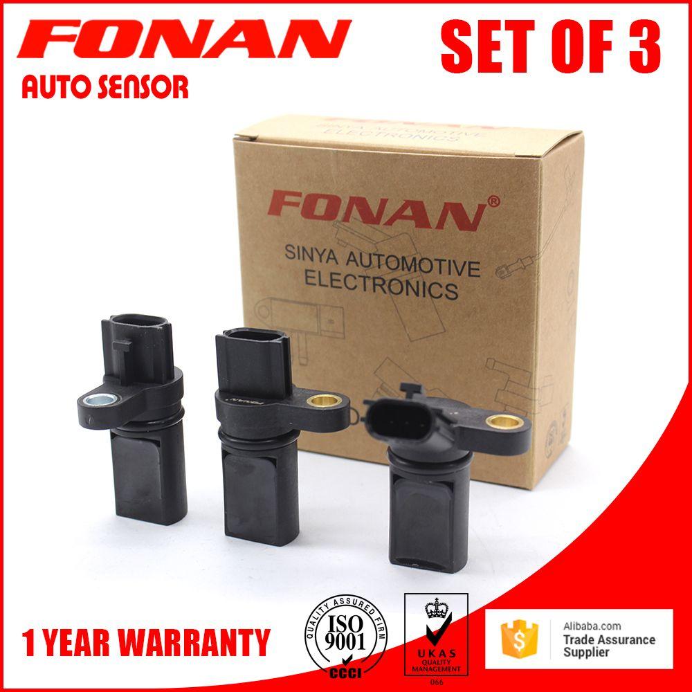 HOT! A Set of 3 Engine Crankshaft Camshaft Position Sensor Kit for NISSAN INFINITI 23731AL60A 237316J90B 23731AL60C 23731AL61A