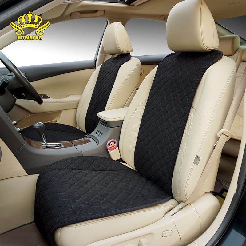 ROWNFUR New Seat Cover Universal Car Accessories <font><b>Four</b></font> Seasons Car Seat Cover For Front Back Seat Covers Car Interior Accessories