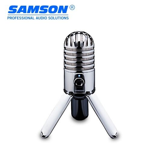 Hot Original SAMSON Meteor Mic USB condenser microphone Studio Mic for computer notebook network Podcasting with Fold-back Leg