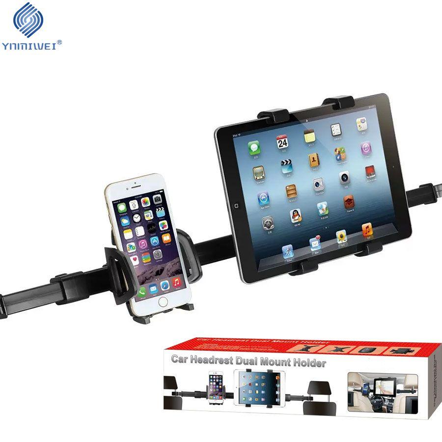 Универсальный автомобильный держатель планшета телефон крепление заднем сиденье автомобиля подголовник двойное крепление подставки авто...