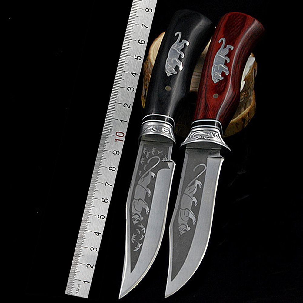 DuoClang Outdoor Camping <font><b>Fixed</b></font> Blade Knife 7Cr15Mov Stainless Steel Blade Tactical Hunting Knives Tool
