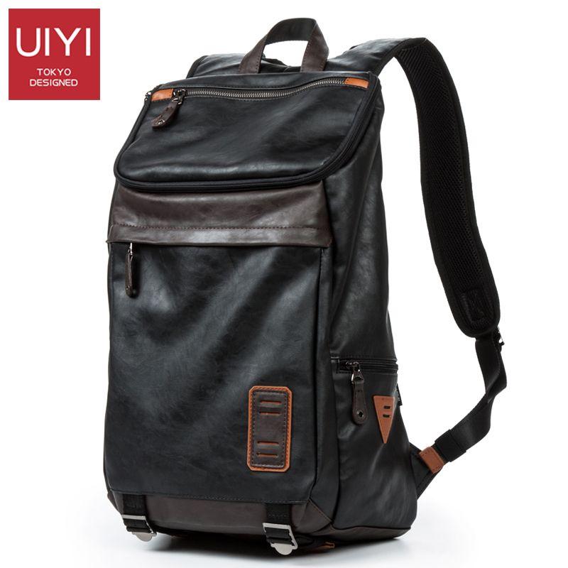 UIYI Large Capacity Men's Casual Backpack Laptop Bag Travel Man Bag Shoulder Back Bag Trendy Male SchoolBag Dropshipping