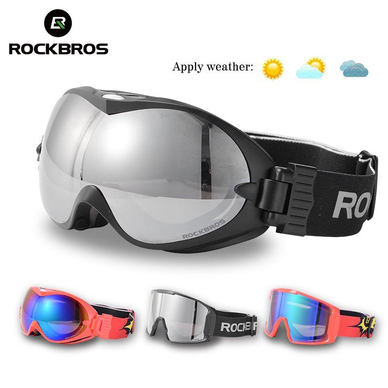 ROCKBROS Winter Sport Ski Brille Doppel Schichten Anti-Nebel Gläser Schnee Skifahren UV400 Brillen Snowboard PC Objektiv Große Maske männer Frauen
