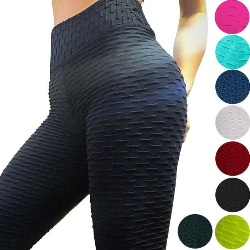 2019 pantalons de Yoga Sexy Fitness sport Leggings Jacquard sport Leggings femme pantalons de course taille haute Yoga pantalons de sport serrés