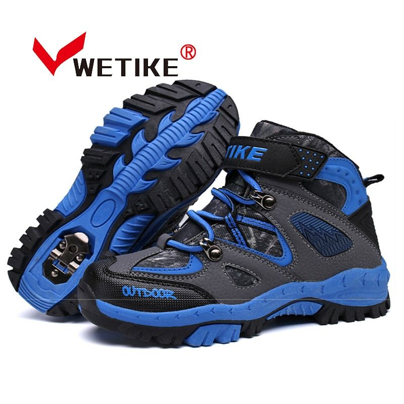 WETIKE Kid's Hiking Shoes Sports Climbing Boots Anti-slip Trekking Hiking Snow Boots Outdoor Winter Sneaker For Boy Girls