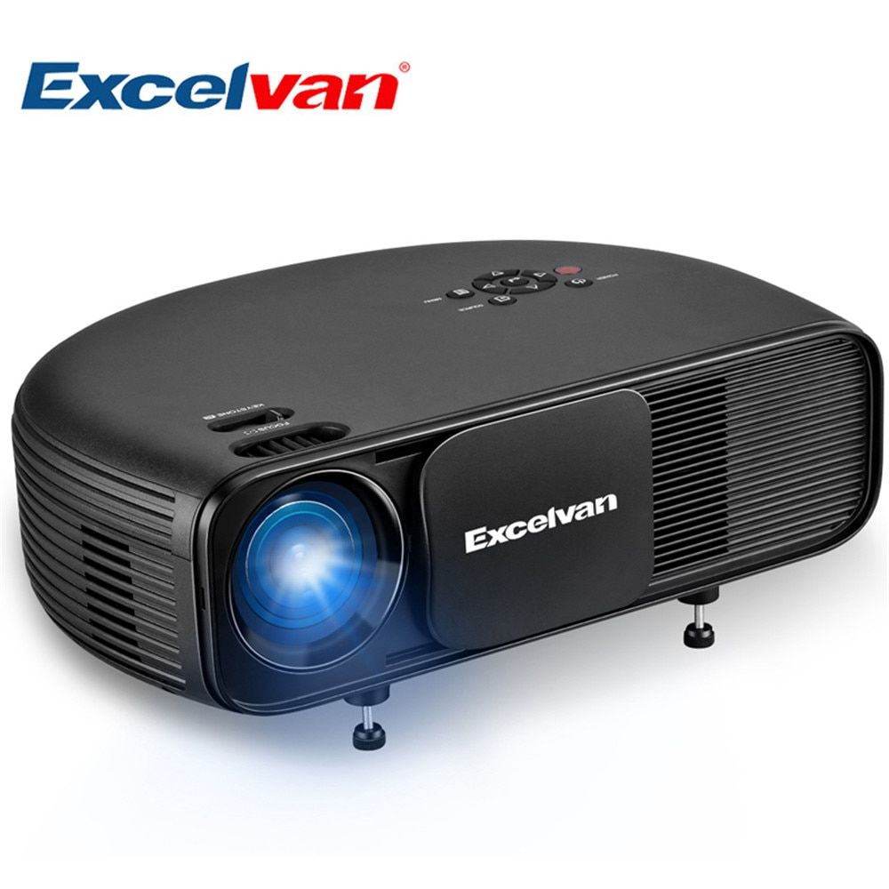 Excelvan CL760 updated CL720 HD LCD Projector 3200 Lumen 1280*800 LED 1080P Video Games TV Home Theater Projecyor Movie Beamer