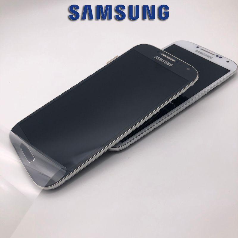ORIGINAL 5,0 ''AMOLED Display für SAMSUNG Galaxy S4 LCD GT-i9505 i9500 i9505 i9506 i337 Touchscreen Digitizer Mit Rahmen