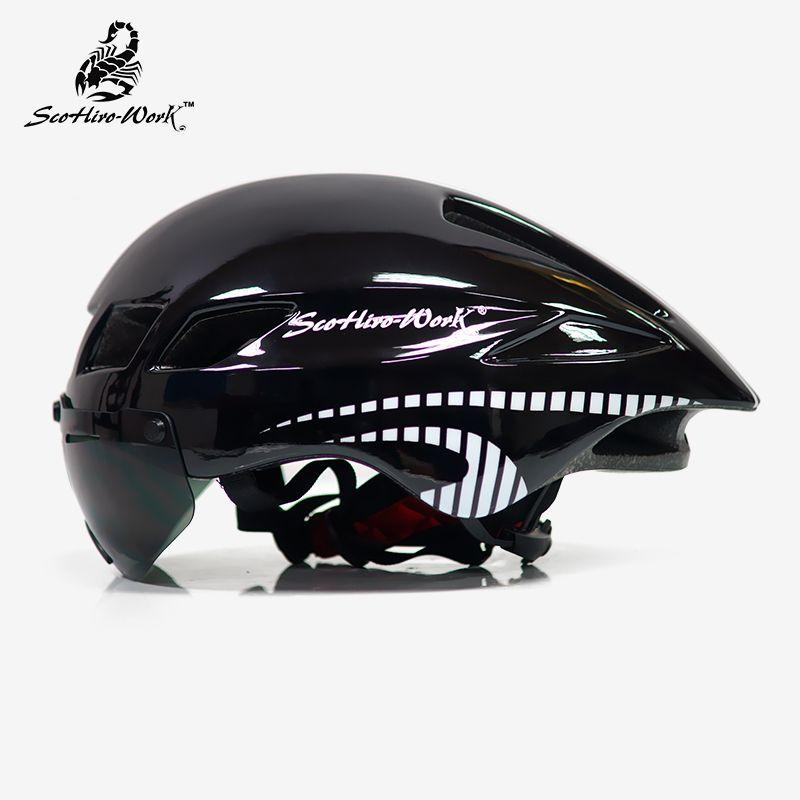 bicycle helmet men Casco Ciclismo road mtb mountain bike 3 lens goggles cycling helmet tt Triathlon equipe capacete da bicicleta