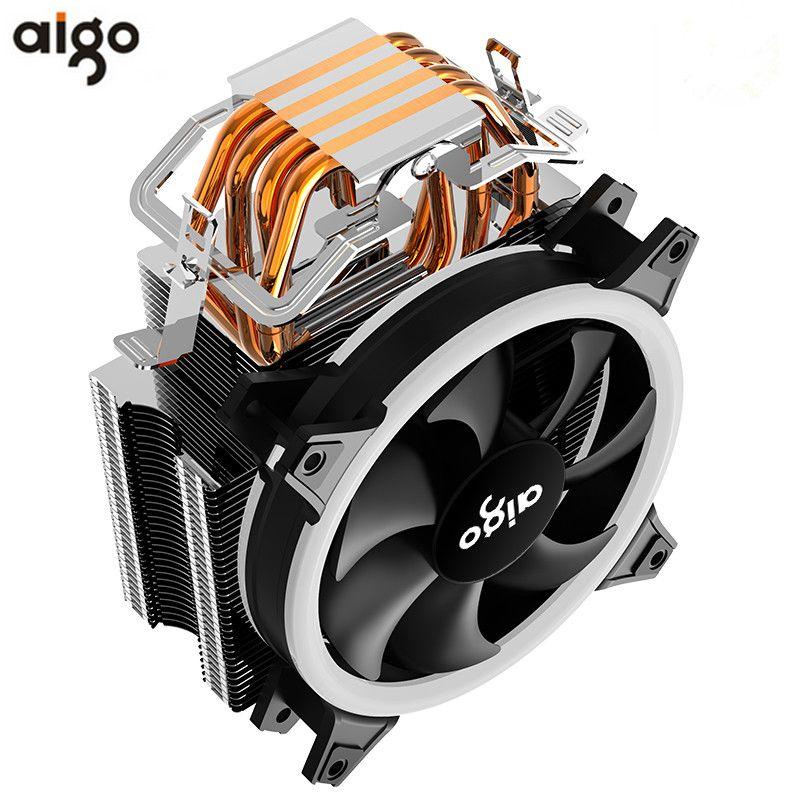 AIGO E3 4 Heatpipes refroidisseur de processeur pour AMD Intel 775 1150 1151 1155 1156 CPU radiateur 120mm 4pin de refroidissement ventilateur CPU PC silencieux