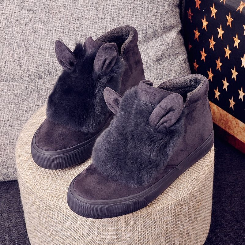 2017 new winter Skateboarding Shoes women low warm plush fur sport sneakers snow walking boots zapatos de hombre lady
