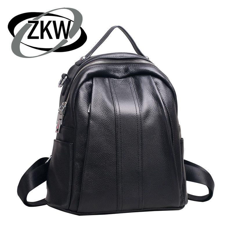 ZKW 2019 nouvelle mode coréenne en cuir de vache sac à bandoulière en cuir dames sac à dos multifonctionnel sac à dos
