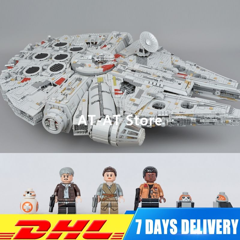 Compatible 75192 LEPIN 05132 8445 PCS Ultimate Wars Collector's Millennium Falcon Model Building Kit Blocks Bricks Toy Gift