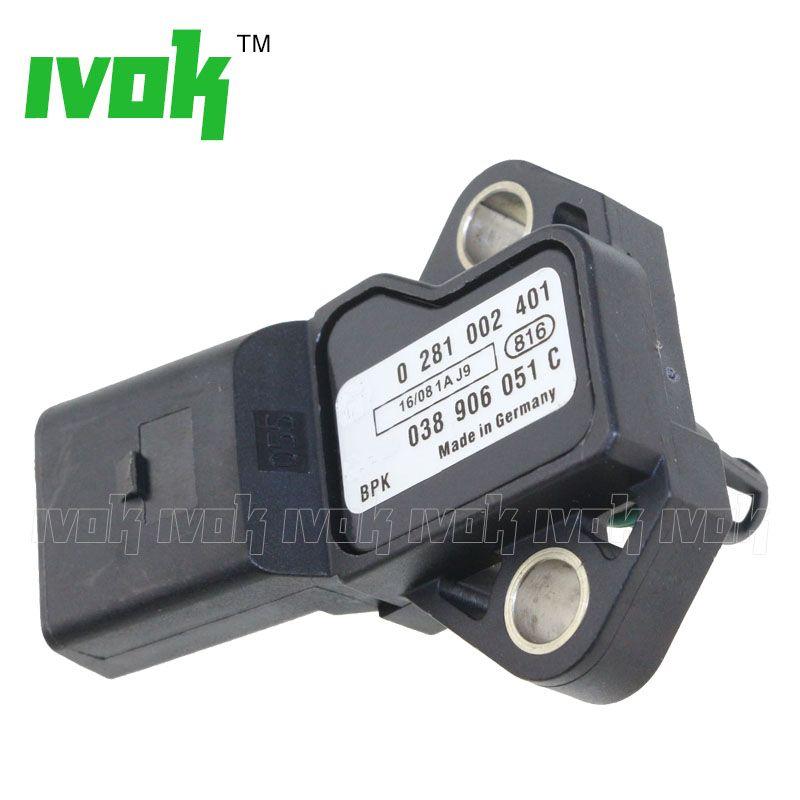 3 Bar Intake Air Boost Pressure MAP Sensor Drucksensor For VW Beetle Golf Jetta Passat Touareg Tiguan CC 1.9 2.0 3.0 5.0 Tdi