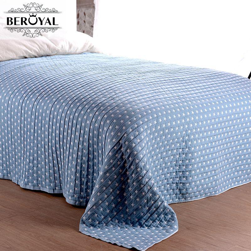 Новый 2017 одеяло - 1кусок 150*200 см хлопок с малым проекционным расстоянием и одеяло трех слоев марли марки одеяло для взрослых Super Soft Star одеяла