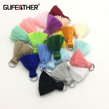 GUFEATHER L46/2 cm Gland/coton gland bursh/accessoires bijoux/bijoux making/DIY/main fait bijoux/Boucle D'oreille glands/sac boucle