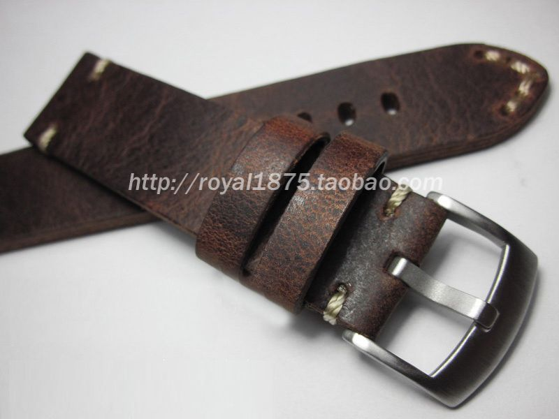 Retro Handmade 18 19 20 21 22 mm Men Genuine Leather Watch Band Strap High Quality Wristband Belt Bracelet For Omega/Zenith/IWC