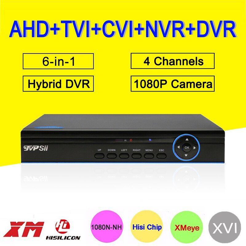 1080 p 2MP Surveillance Caméra Bleu-Ray Cas XMeye 5-en-1 25fps 4 Canal 4CH Hybride coaxial NVR CVI TVI AHD DVR Livraison Gratuite