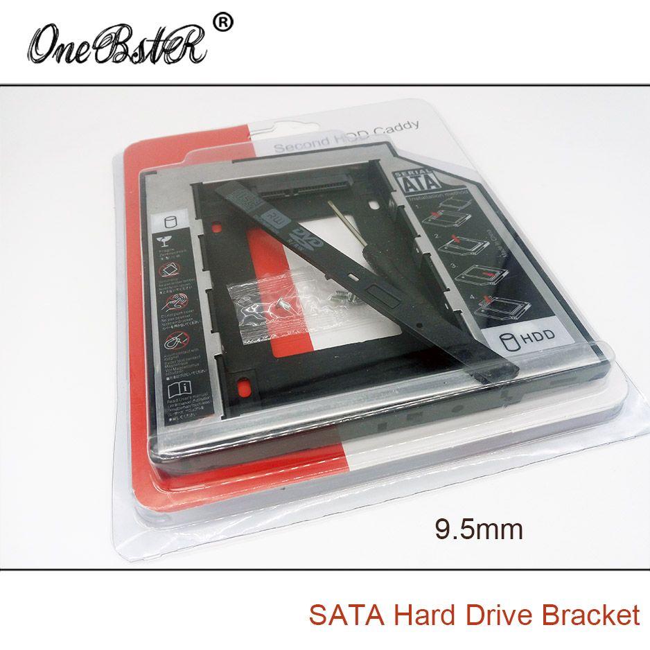 Livraison Gratuite Universel Deuxième 2.5 ''HDD/SSD Caddy 9.5mm SATA À SATA Disque Dur Adaptateur Pour Ordinateur Portable CD DVD Lecteur Optique Bay