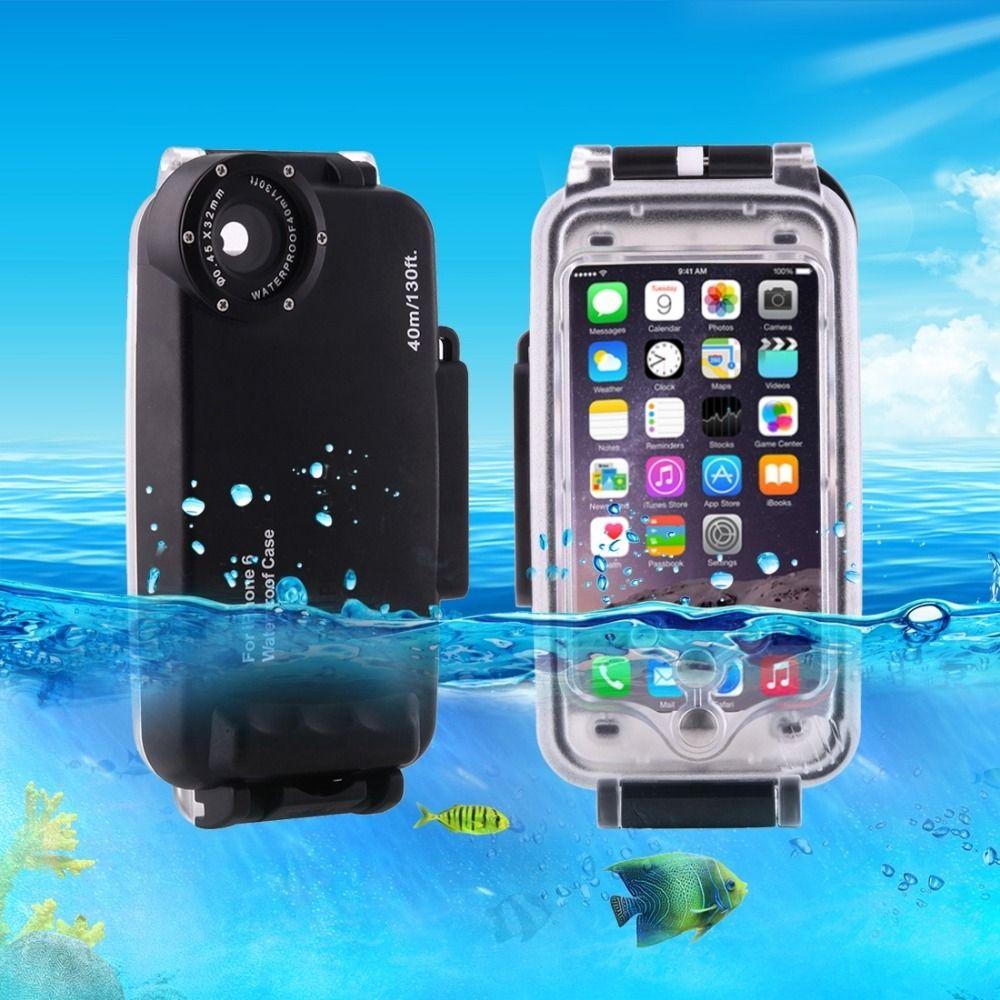 Für iPhone 6 6 s 7 7 Plus 6 Plus Wasserdichte Tauchen Gehäuse abdeckung Fall PC ABS Tasche Dirt/Shock Proof Foto Video Aufnahme unterwasser