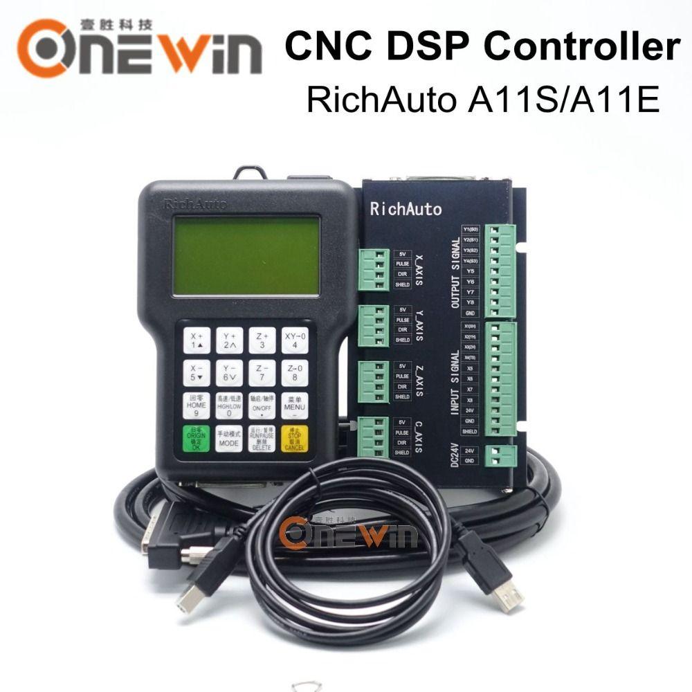 RichAuto A11 DSP CNC Controller A11S A11E 3 Axis USB Controller for CNC Router Better Than DSP 0501 Controller