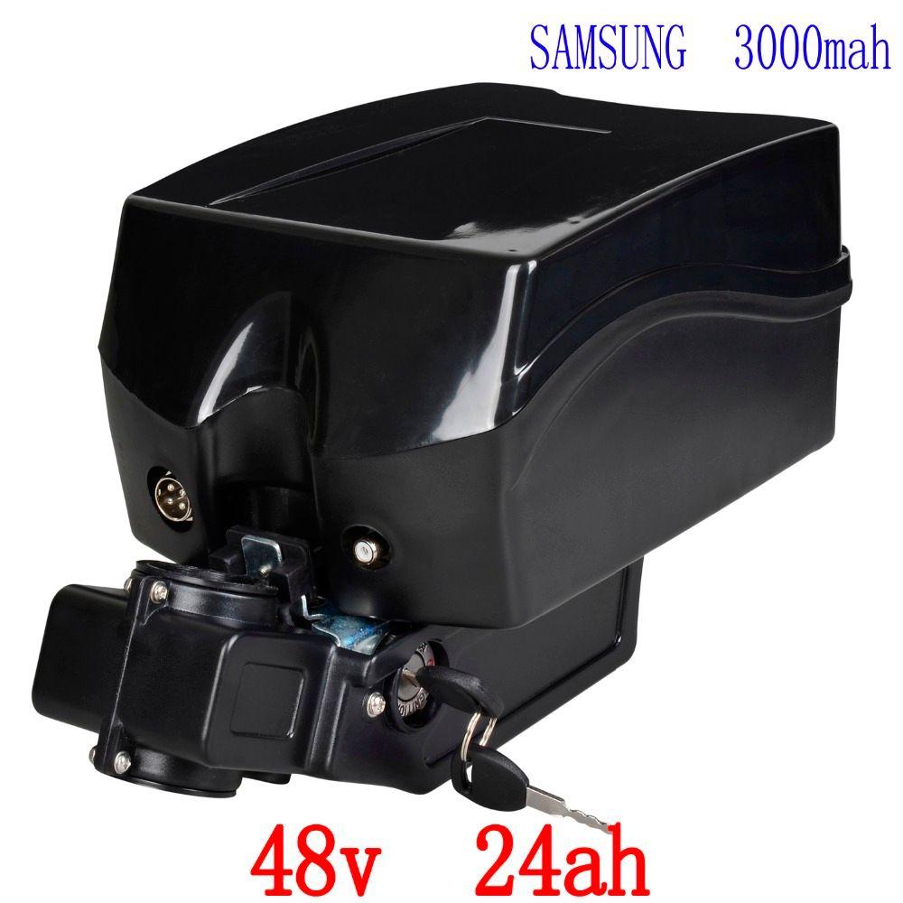 Wiederaufladbare 48 V 1000 Watt Lithium-Batterie 48 V 24AH Elektrische Fahrradbatterie verwendung für samsung 3000 mah zelle mit 30A BMS 54,6 V 2A ladegerät