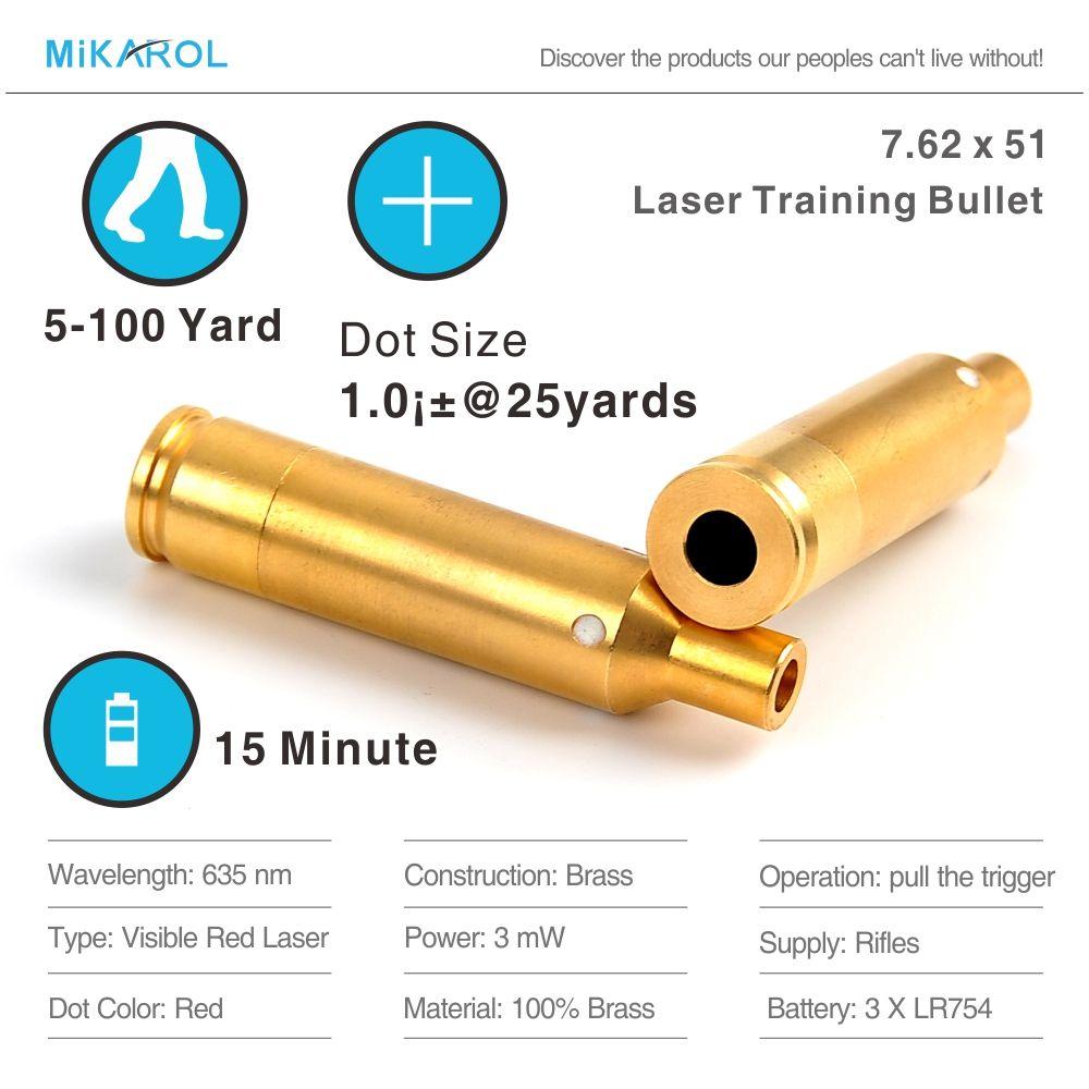 7,62x51 MM Laser Ausbildung Kugel, Laser Kugel, laser Trainer Patrone für Trockene Feuer Ausbildung und Schießen Simulation