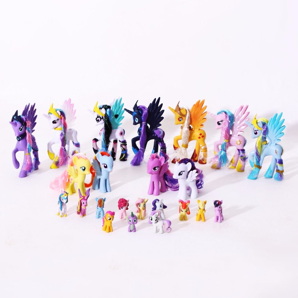 PVC Horse Action Figures Friendship Is Magic Princess Luna Celestia Rainbow Dash Unicorn Toys doll For Girls kids toys